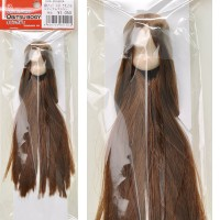 11HD-D01WC04 Obitsu 11cm Doll White Head 01 Rooted Hair Brown