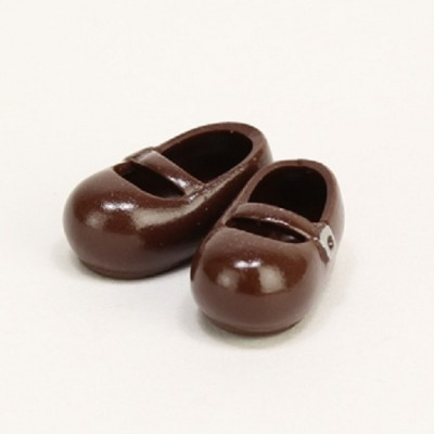 11SH-F002T-G Obitsu 11cm Body Doll Mary Jane Magnet Shoes Brown