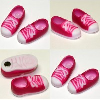 11SH-F004PK-G Obitsu 11cm Body Doll Shoes Magnet Sneaker Pink