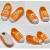 11SH-F004OR-G Obitsu 11cm Body Doll Shoes Magnet Sneaker Orange