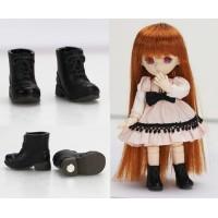11SH-F005BK-G Obitsu 11cm Doll Shoes Magnet Short Boots Black