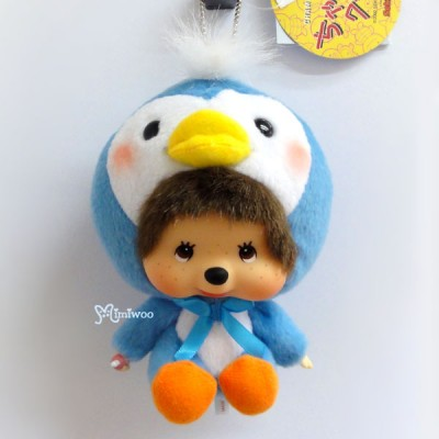 Monchhichi Big Head MCC x Chamekko Keychain Penguin ICE 220550