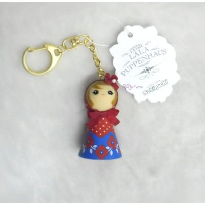 Sekiguchi Otome Kokeshi Ribbon Chan Keychain Red 225033