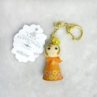 Sekiguchi Otome Kokeshi Ribbon Chan Keychain Orange 225057