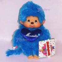 Monchhichi 夢奇奇愛心公仔系列 藍 243620