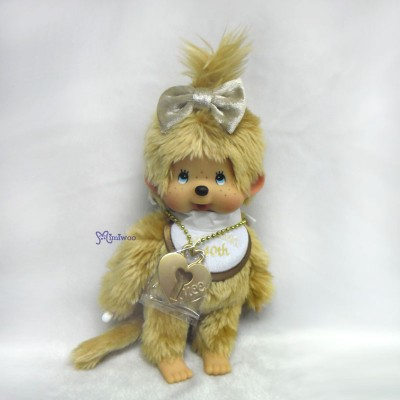 257390 Monchhichi 40th Anniversary 20cm MCC Gold Girl