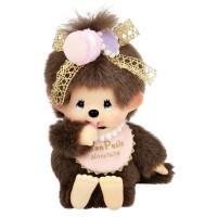 258660 Monchhichi 18cm Bean Bag Plush Mon Petit MCC Macaron Girl