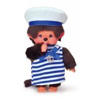 "Monchhichi S Size 8"" Plush Sailor Fashion Marine Boy 259144"