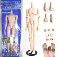 27BD-M03W-G Obitsu Doll Male 28cm Body - Slim White, Magnet