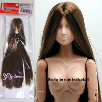 27HD-F01NC04 Obitsu 1/6 Dollfie Natural Head 01 Long Brown Hair