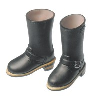 27SH-F003B Obitsu Female Blythe Doll Shoes Engineer Boots Black