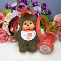Monchhichi Disc Jockey MCC DJ Mascot Keychain - Girl 294160