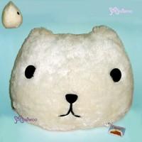 46484B Japan Kapibara San Face 水豚頭大咕臣 白色Cushion