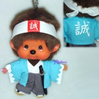 Monchhichi Big Head MCC Mascot Keychain Japan Dance Boy 780230