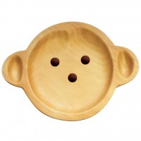 AVLF1010 Japan Petits et Maman 兒童松木餐盤 猴子