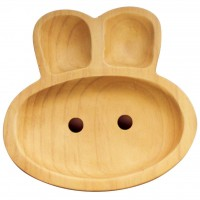 Petits et Maman Baby Kids Wooden Plate Rabbit (S) AVLF1020S