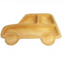 AVLF1070 Japan Petits et Maman 兒童松木餐盤 車