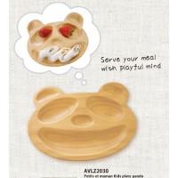 AVLZ2030 Petits et Maman 童松木餐盤 熊貓