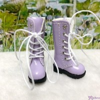 1/6 Bjd Neo B Doll Shoes PU Leather Long Boots Purple LYS026PUE