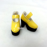 1/6 Bjd Doll Shoes High Heel Boots Yellow SHP116YEW