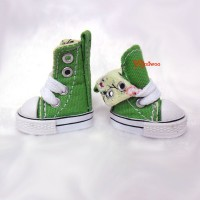 1/6 Bjd Neo B Denim MICRO Shoes Folded Boots Green SHP188GRN