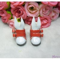 Blythe Pullip Momoko Obitsu Bjd Doll Shoes Bunny Ear Buckle Boots Red SHP192RED
