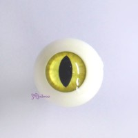 CAT20C15 BJD Doll Acrylic Plastic eyeball Full Round Cat Eye 20mm Yellow