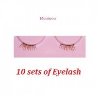 BJD DIY Material Craft 1/6 Figure Doll Eyelash BROWN (Set of 10 pairs) EL02-DBx10