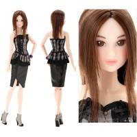 Momoko 27cm Girl Sekiguchi Fashion Doll - Deep Violet 219032
