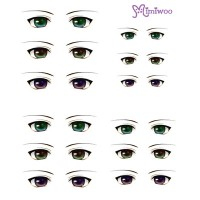 ED6-02 1/6 Bjd Doll Eye Decal Sticker 02