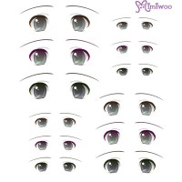 ED6-08 1/6 Bjd Doll Eye Decal Sticker 08
