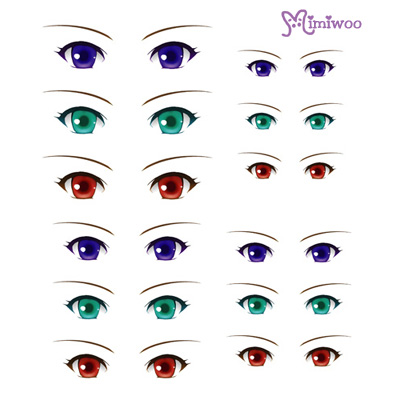 ED6-09 1/6 Doll Eye Decal Sticker 09