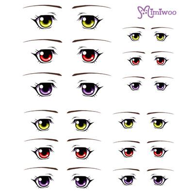 ED6-13 1/6 Bjd Doll Eye Decal Sticker 13