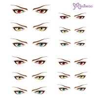 ED6-17 1/6 Bjd Doll Eye Decal Sticker 17