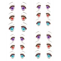 ED6-32 1/6 Bjd Doll Eye Decal Sticker 32