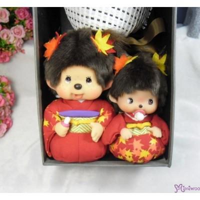 Monchhichi & Bebichhichi Scarlet Maple Leaves 紅葉 + 情人節 肥皂花 花束 Soap Flower Rose Gift Box Set