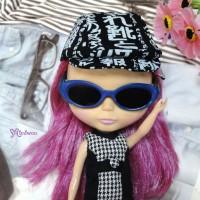 HSM011BLE02 Neo B Doll Mimi Plastic Blue Glasses Black Lens