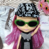 HSM011GRN02 Neo B Doll Mimi Plastic Green Glasses Black Lens