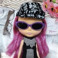 HSM011PUE02 Neo B Doll Mimi Plastic Purple Glasses Black Lens