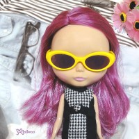 HSM011YEW03 Neo B Doll Mimi Plastic Yellow Glasses Brown Lens