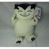 Jacob Cat 25cm 積及貓 毛公仔 - 坐姿, 白色 JC25110B