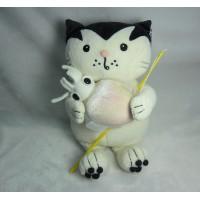 Jacob Cat 25cm 積及貓 毛公仔 - 釣魚 烏賊 JC25125B