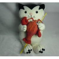 Jacob Cat 25cm 積及貓 毛公仔 - 釣魚 龍蝦 JC25126B