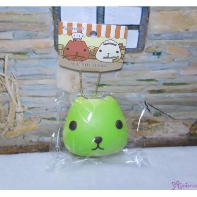 日本限定 Kapibara San Squishy Mascot 水豚君 治愈 吊飾 GREEN 619334
