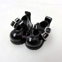 1/6 Bjd Doll Cross Strap Shoes Black LYS002BLK