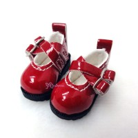LYS002RED 16cm Lati Yellow Basic Doll Cross Strap Shoes Red