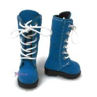 LYS003BLE Lati Yellow Blythe Pullip Shoes Velvet Boots Blue