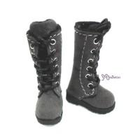 LYS003GRY Lati Yellow Blythe Pullip Shoes Velvet Boots Grey