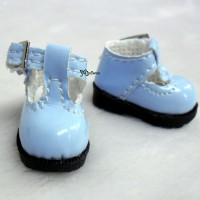 1/6 BJD Doll T-Strap Buckle Shoes Blue LYS022BLE