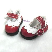 3.3cm Mary Jane Strap Shoes Blue SHP112RED